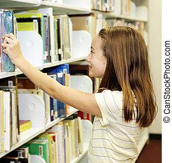 Biblioteca escolar, estantes