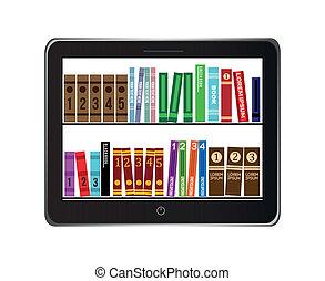 biblioteca, libro electrónico