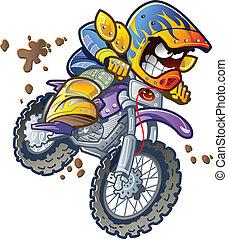 bici del bmx, jinete, suciedad