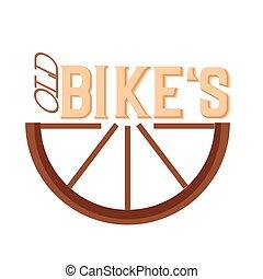 bicicleta, aislado, viejo