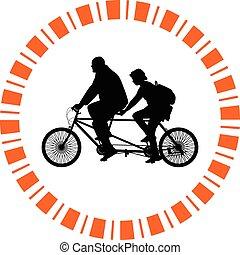 Bicicleta de dos asientos