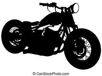 Bicicleta de motor antiguo dos