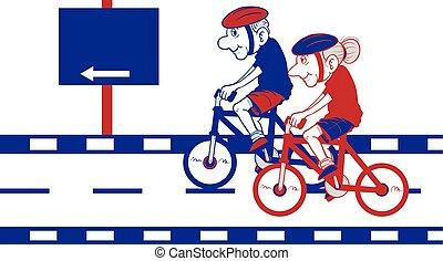 Bicicleta de viejo