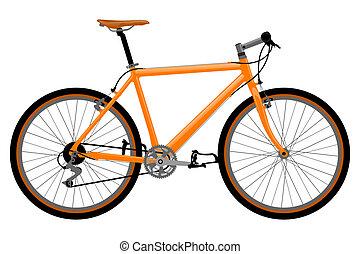 bicicleta, illustration.