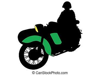 Bicicleta retro militar
