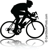 Biciclista silueta