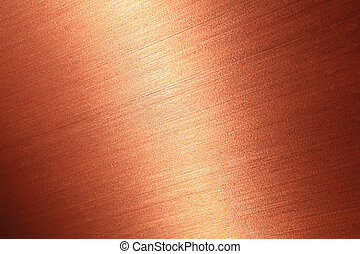 Bien cepillado textura de cobre