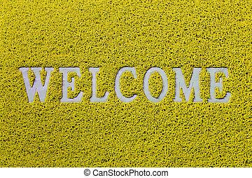 Bienvenida alfombra aislada