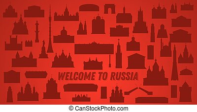 Bienvenido a Rusia. Ilustración de vectores.