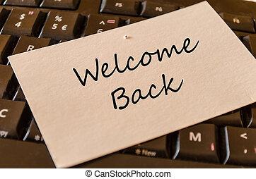 Bienvenido de nuevo