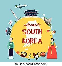 Bienvenidos a Corea del Sur con monumentos y tradición