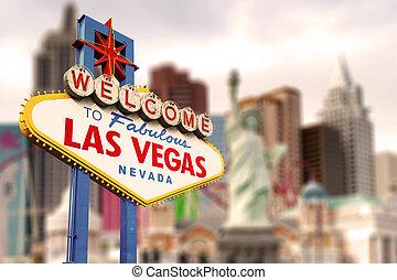 Bienvenidos a la señal de Las Vegas