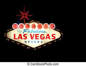 Bienvenidos a la señal de neón de Las Vegas