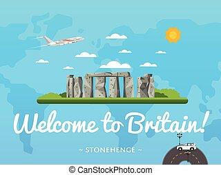 Bienvenidos al póster británico con una famosa atracción