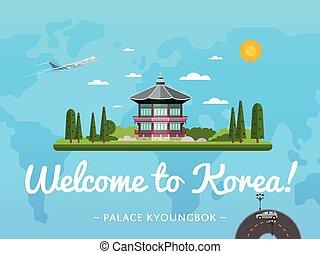 Bienvenidos al póster de Corea con una famosa atracción
