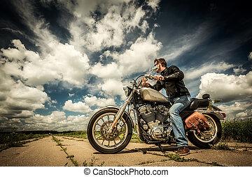 biker, camino