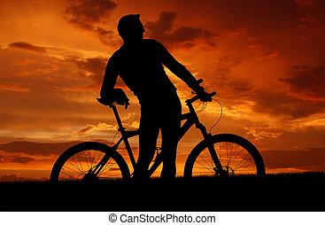 biker, montaña