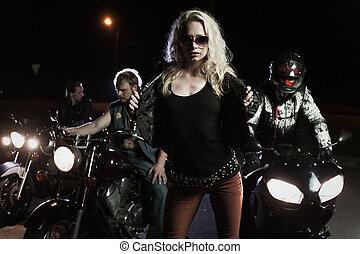 biker, niñas