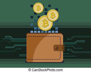 Billetera electrónica y bitcoins