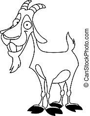 billy, contorneado, goat