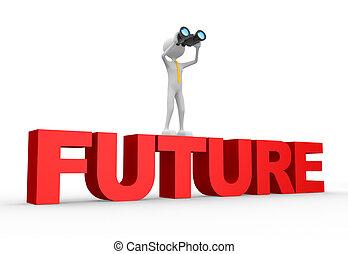 binocular, palabra, futuro