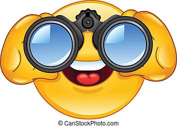 binoculares, emoticon