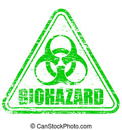 biohazard, estampilla