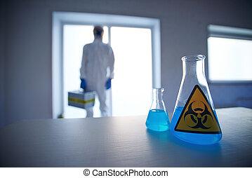 biohazard, líquido