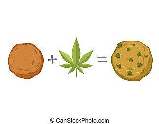 biscuit., narcótico, galleta, recipe., rasta, comida., sweets., gusto, rastafarians, reggie, jamaiquino, marijuana