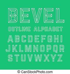 bisel, alfabeto