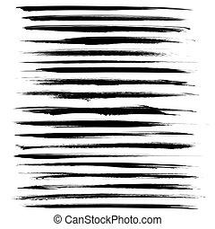 Black long abstract strok