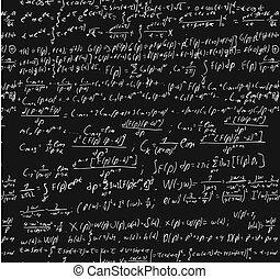 Blackboard con cálculo matemático.