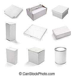 blanco, caja, blanco, contenedor