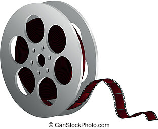 blanco, carrete, película, contra