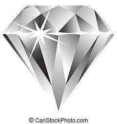 blanco, diamante, contra