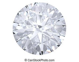 blanco, diamante, punta la vista