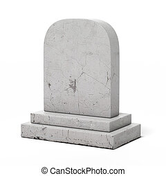 blanco, lápida