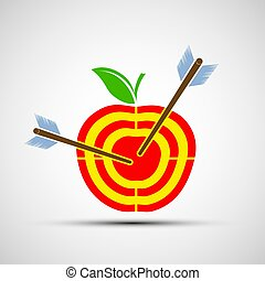 Blanco manzana. Icon imagen.