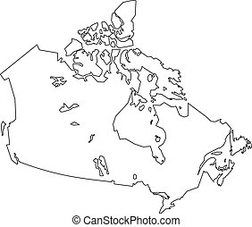 blanco, mapa, canadá