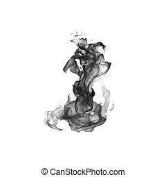 blanco, negro, resumen, humo, plano de fondo, fuego, diseño