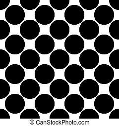 blanco, negro, vector, seamless, patrón