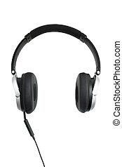 blanco, oon, auriculares