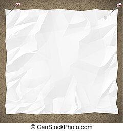 blanco, papel, tablón de anuncios, blanco