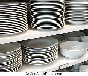 blanco, platos