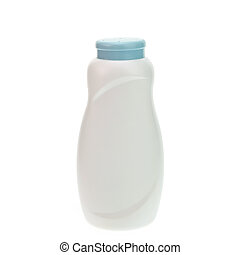 blanco, polvo, botella