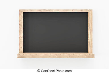 blanco, render, aislado, -, de madera, vacío, pizarra, plano de fondo, 3d, ilustración, blanco, pizarra, marco