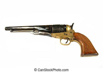 blanco, revólver