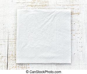 blanco, servilleta de papel