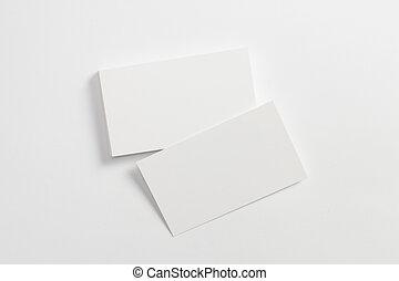 blanco, tarjetas, white., punta la vista, aislado, empresa / negocio