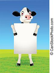 blanco, vaca, señal